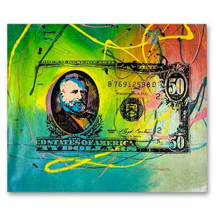 "Steve Kaufman (1960-2010) ""50 Dollar Bill"" Original"