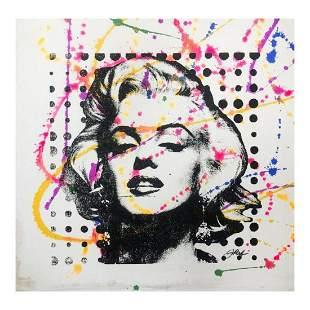 "Rodgers ""Marilyn Monroe"" Original Mixed Media on Canvas"