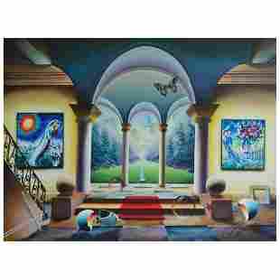 "Ferjo ""Step Into the Garden"" Original Oil on Canvas"