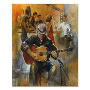 """Sotskova """"Lounge Singer"""" Original Oil on Canvas"""