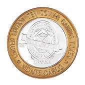 .999 Silver Monte Carlo Las Vegas, Nevada $10 Casino