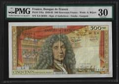 1959-65 France 500 Nouveaux Francs Currency Note Pick#
