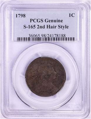 1798 Draped Bust Large Cent Coin PCGS Genuine S-165 2nd