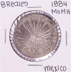 884 Mo MH Mexico 8 Reales Silver Coin