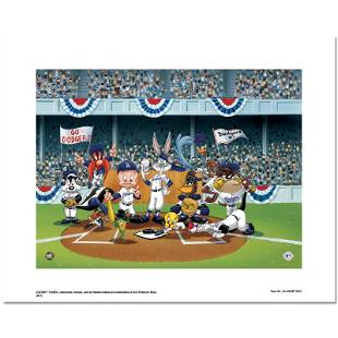 """Looney Tunes """"Line Up At The Plate (Dodgers)"""" Limited"""
