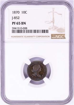 1870 Pattern Proof Standard Silver Ten Cents Coin NGC