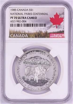 1985 $1 Proof Canada National Parks Centennial Silver