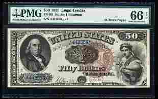 1880 $50 Legal Tender Note Fr.161 PMG Gem Uncirculated
