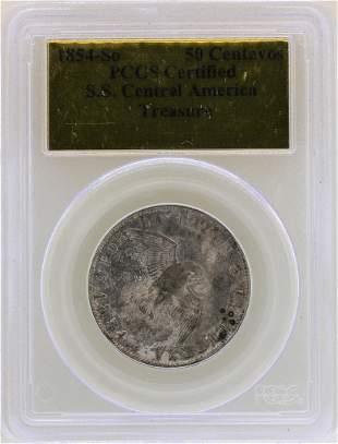 1854-So S.S. Central America 50 Centavos Treasure Coin
