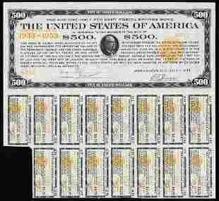 Rare 1933 $500 Postal Savings Bearer Bond
