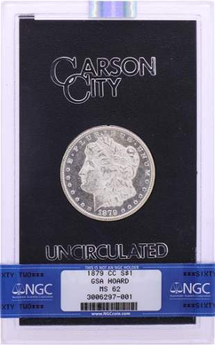 1879-CC $1 Morgan Silver Dollar Coin GSA Hoard