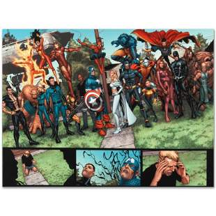 """Marvel Comics """"New Avengers #8"""" Limited Edition Giclee"""