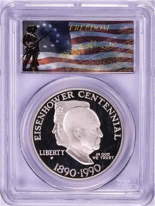 1990-P $1 Proof Eisenhower Centennial Commemorative