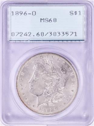 1896-O $1 Morgan Silver Dollar Coin PCGS MS60 Old