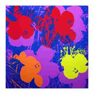 """Andy Warhol """"Flowers 1166"""" Serigraph on Paper"""