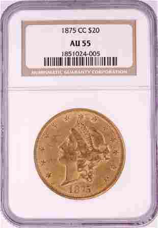 1875-CC $20 Liberty Head Double Eagle Gold Coin NGC