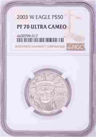 2003-W $50 Proof Platinum American Eagle Coin NGC PF70