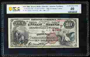 1882BB $10 Phoenix, Arizona Territory CH# 4729 National