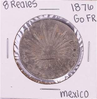 1876 Go FR Mexico 8 Reales Silver Coin