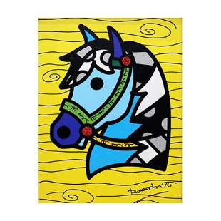 """Romero Britto """"Country Horse"""" Limited Edition Giclee on"""