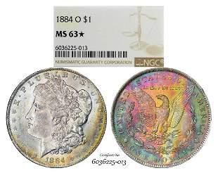 1884-O $1 Morgan Silver Dollar Coin NGC MS63* Star