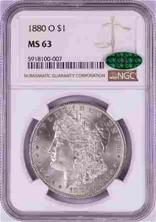 1880-O $1 Morgan Silver Dollar Coin NGC MS63 CAC