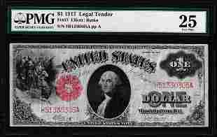 1917 $1 Legal Tender Note Fr.37 PMG Very Fine 25