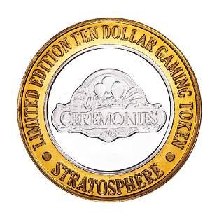 .999 Silver Stratosphere Las Vegas, Nevada $10 Casino