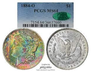 1884-O $1 Morgan Silver Dollar Coin PCGS MS64 CAC