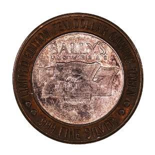 .999 Silver Bally's Las Vegas, Nevada $10 Casino