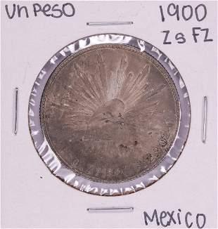 1900 Zs FZ Mexico Un Peso Silver Coin