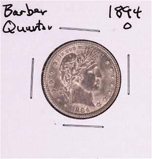 1894-O Barber Quarter Coin