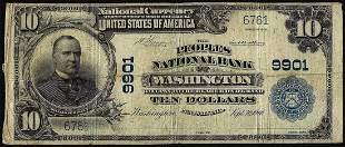1902PB $10 Peoples NB of Washington, PA CH# 9901
