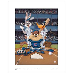 """Looney Tunes """"At The Plate (Cubs)"""" Limited Edition"""