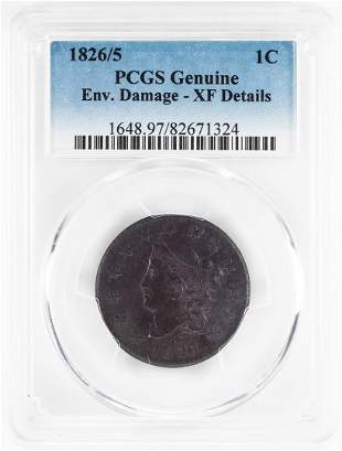 1826/5 Coronet Large Cent Coin PCGS Genuine
