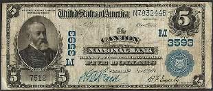 1902PB $5 Canton National Bank, Illinois CH# 3593