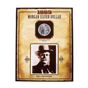 1889 $1 Morgan Silver Dollar Coin Bill Tilghman Legends