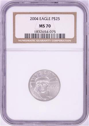 2004 $25 Platinum American Eagle Coin NGC MS70