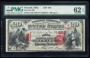 First Charter 1875 First NB Newark, OH CH# 434 National
