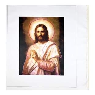 "Steve Kaufman (1960-2010) ""Jesus Peace (State 2)"""