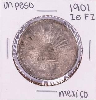 1901 Zs FZ Mexico Un Peso Silver Coin