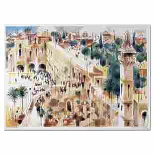 "Katz (1926-2010) ""Jerusalem"" Limited Edition Serigraph"