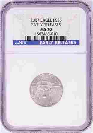 2007 $25 Platinum American Eagle Coin NGC MS70 Early
