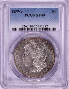 1899-S $1 Morgan Silver Dollar Coin PCGS XF40