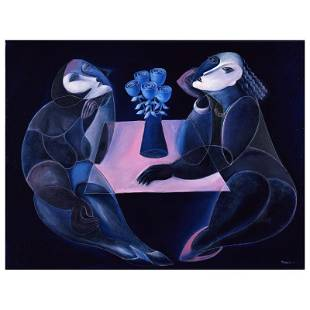 """Yuroz """"Table Of Negotiation"""" Limited Edition Serigraph"""