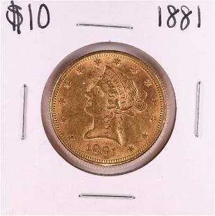 1881 $10 Liberty Head Eagle Gold Coin