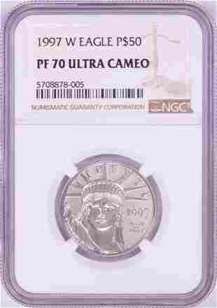 1997-W $50 Proof Platinum American Eagle Coin NGC PF70