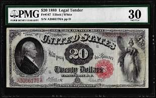 1880 $20 Legal Tender Note Fr.147 PMG Very Fine 30
