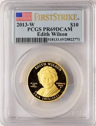 2013-W $10 Edith Wilson Commemorative Gold Coin PCGS