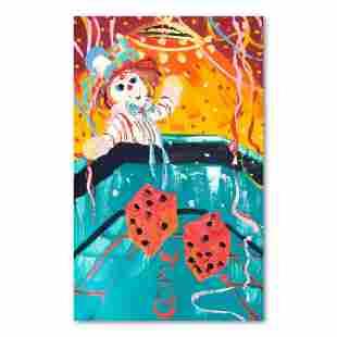 """Henrie (1932-1999) """"7 Come 11"""" Original Oil on Canvas"""